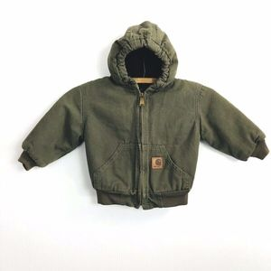 Carhartt Duck Jacket Hood Moss Green Boy's 2T